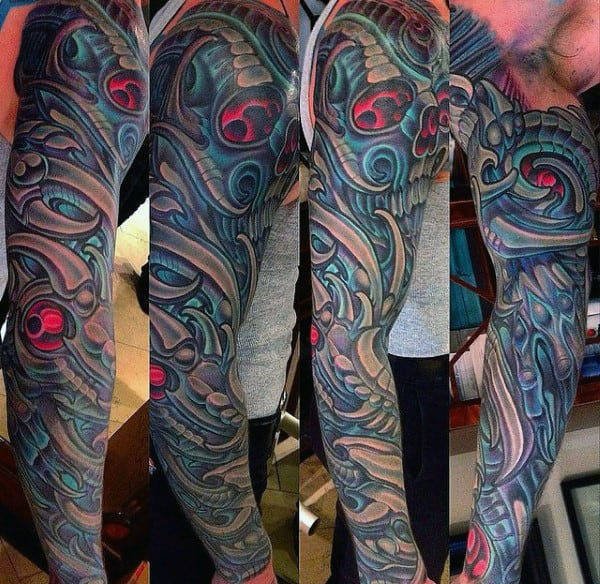 Mens Unique Artistic Full Sleeve Tattoos