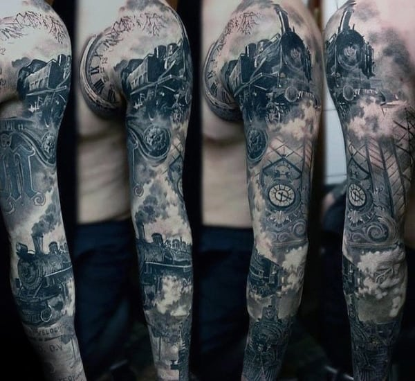 Mens Unique Tain Sleeve Tattoos