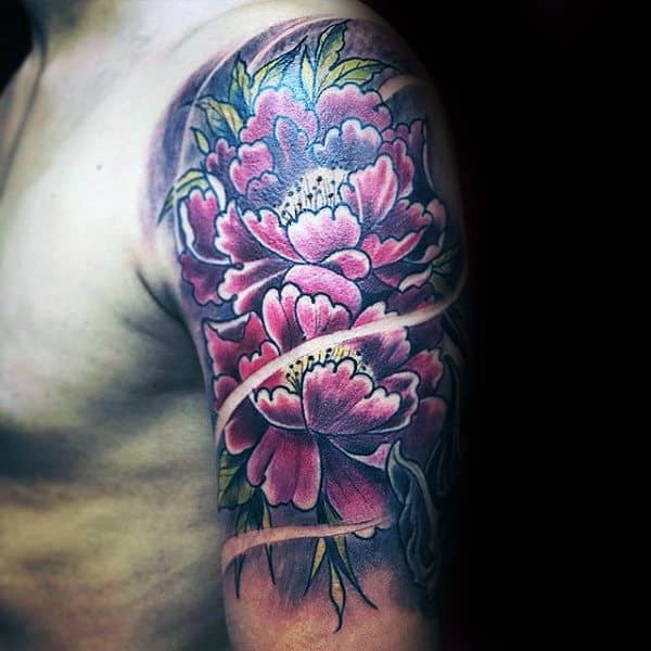 100 Peony Tattoo Designs For Men