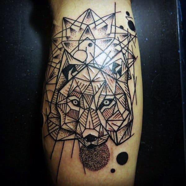 Fox Men's Upper Calf Tattoos