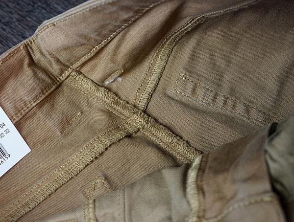 Mens Vertx Delta Strech Pants Interior Stiching Detail