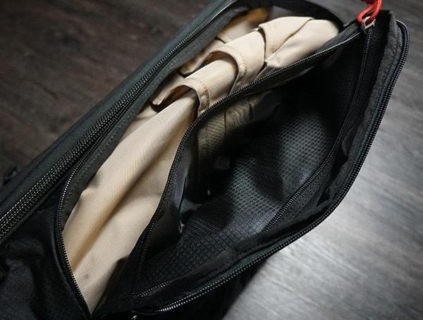 Mens Vertx Edc Gamut Plus Backpack Review Side Mesh Pocket Open
