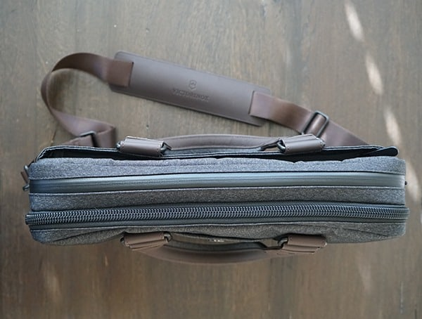 Mens Victorinox Architecture Urban Bodmer 14 Laptop Bag Top
