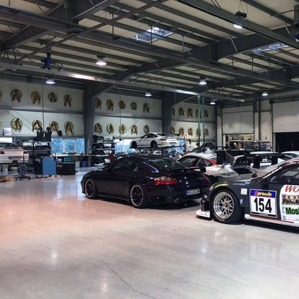Mens Warehouse Dream Garage Design With Fast Cars