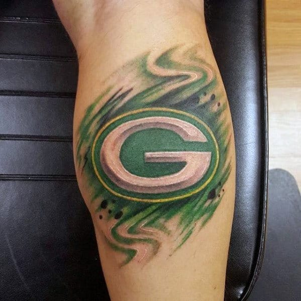 20 green bay packers tattoos for men nfl ink ideas. Black Bedroom Furniture Sets. Home Design Ideas