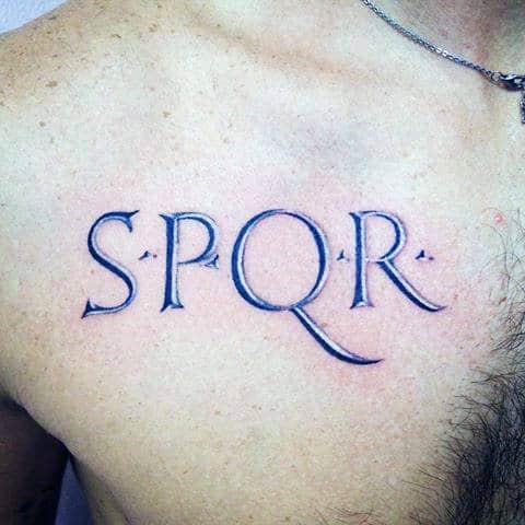 40 spqr tattoo designs for men sen tus populusque