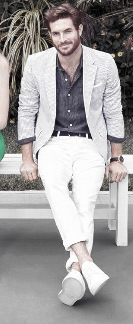 Mens White Jeans Blazer And Shoes What To Wear With Outfits
