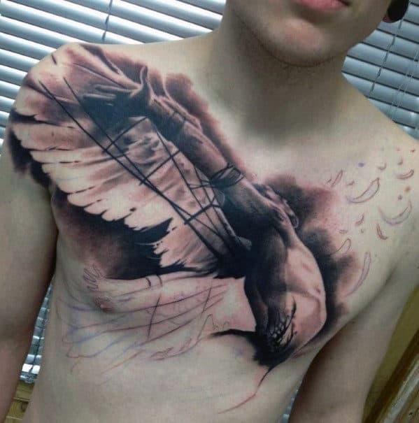 Men's Wing Tattoos