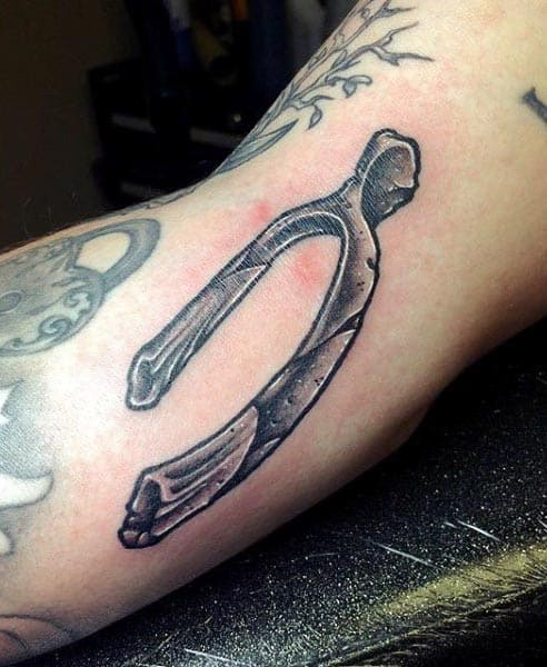 Mens Wishbone Arm Tattoo