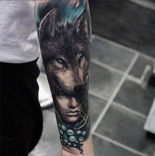 Tattoo Woman In Wolf: 70 Wolf Tattoo Designs For Men