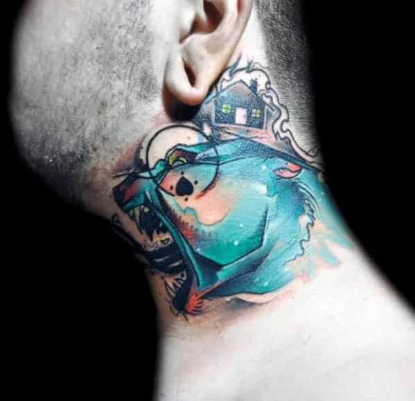 mens-wolf-neck-tattoos
