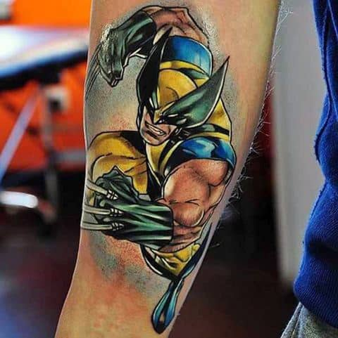 Mens Wolverine Inner Forearm Awesome Tattoo Designs