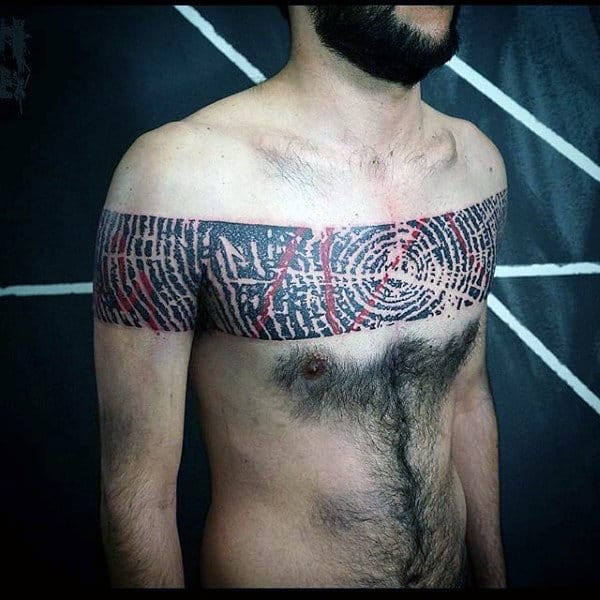 Mens Wood Unique Chest Tattoo Ideas