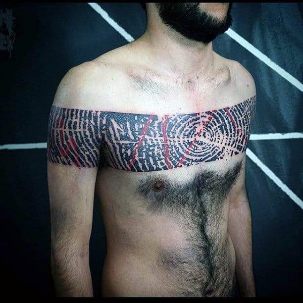 Mens Wood Unique Chest Tattoo Ideas