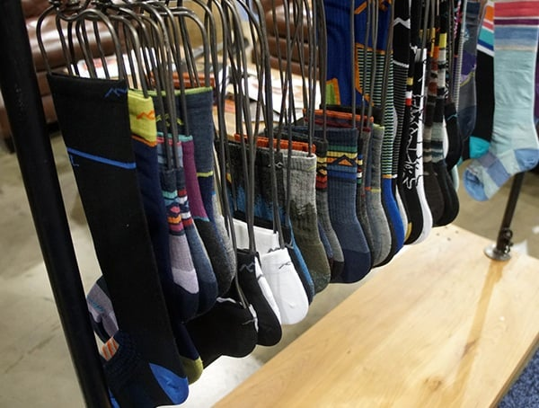 Mens Wool Winter Socks Display