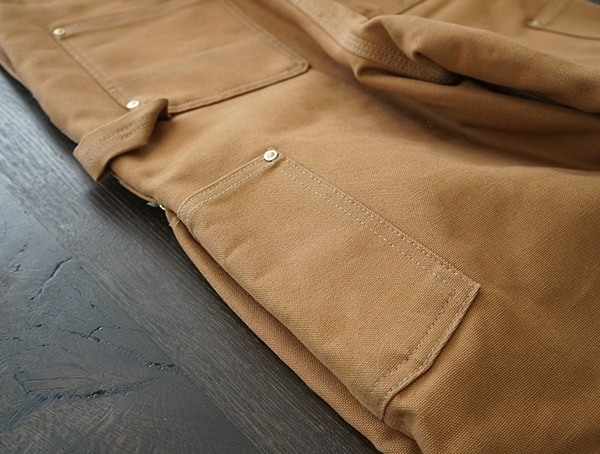 Mens Work Bibs Side Outer Pockets Carhartt Quilt Lined Zip To Thigh