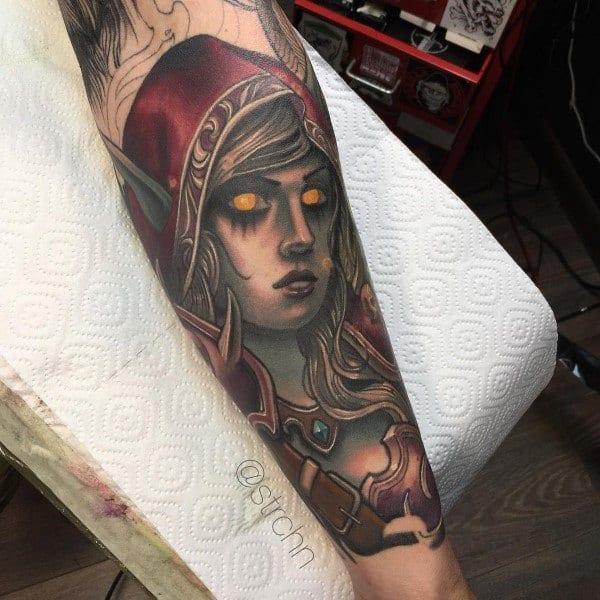 Mens World Of Warcraft Tattoo Designs