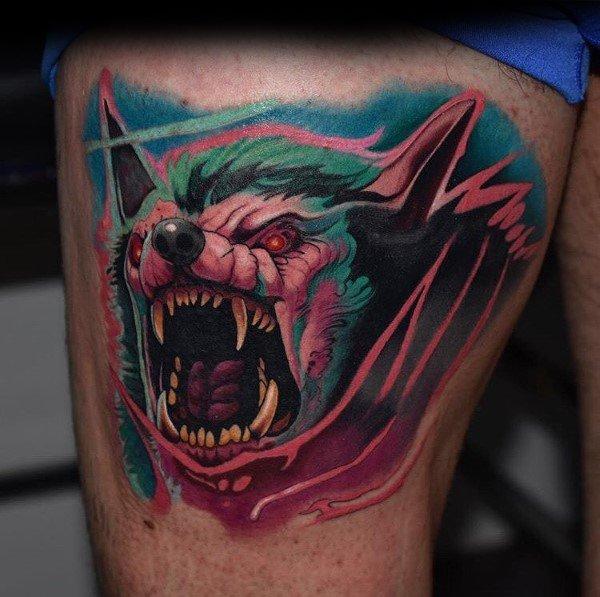 Mens World Of Warcraft Tattoo