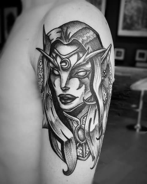 Mens World Of Warcraft Tattoos