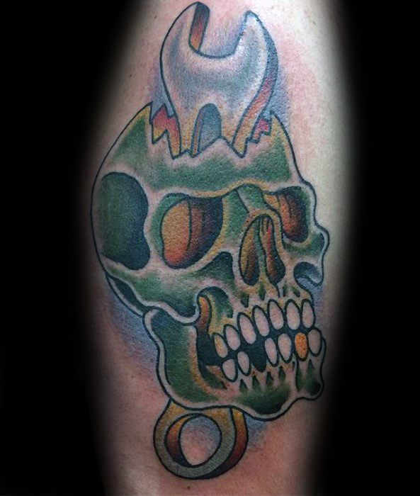 Mens Wrench Tattoo Design Ideas