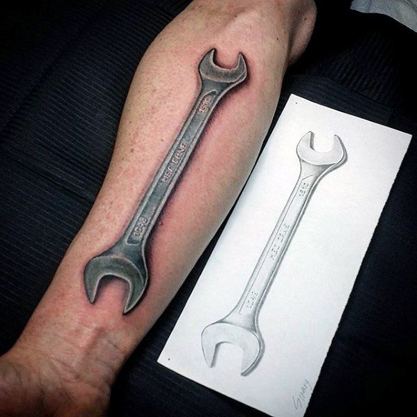 Mens Wrench Tattoo Ideas