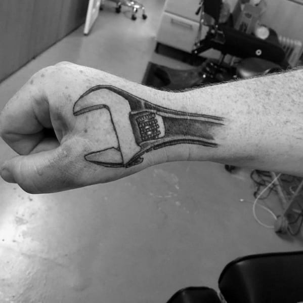 Mens Wrench Tattoo