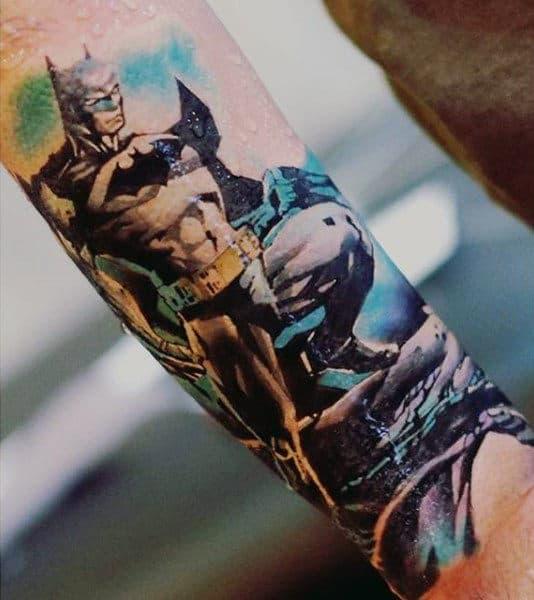 Mens Wrist Cool Batman Tattoo Ideas
