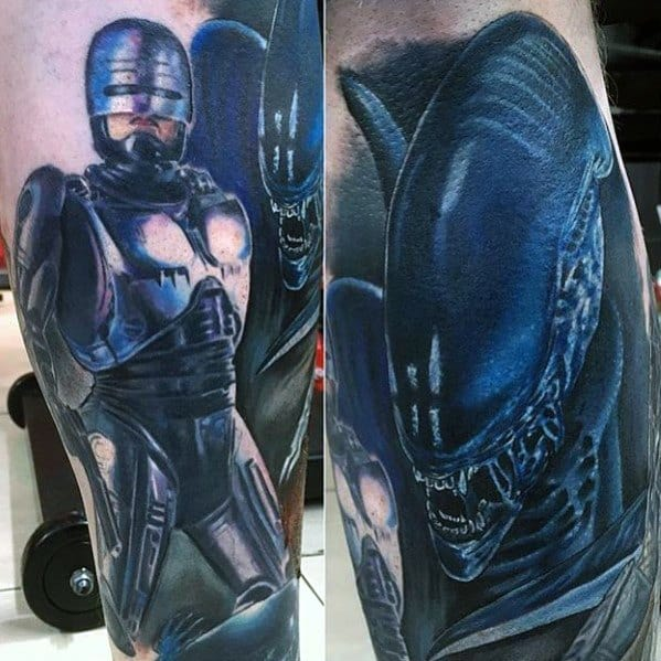 Mens Xenomorph Tattoo Design Ideas