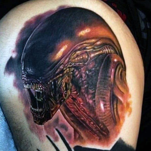 Mens Xenomorph Tattoo Ideas