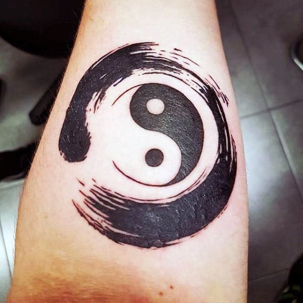 ee45affe5353f 60 Enso Tattoo Designs For Men - Zen Japanese Ink Ideas