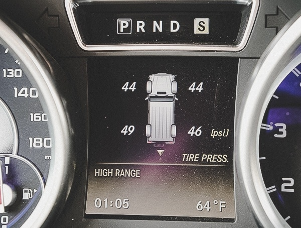 Mercedes Benz G6 Amg Tire Pressure Read Out Display