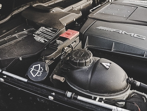Mercedes G63 Amg Battery Connections Engine Bay