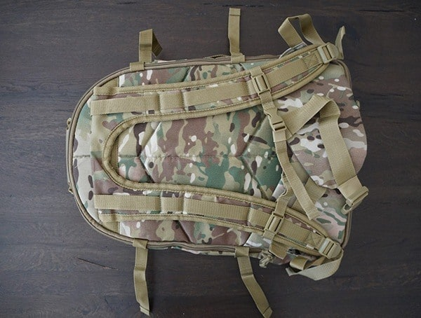 Mercury Tactical 3 Day Strech Backpack Back With Shoulder Straps