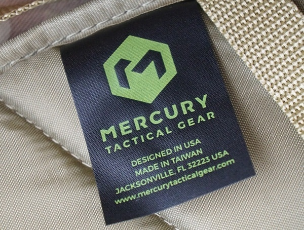 Mercury Tactical 3 Day Strech Backpack Inner Tag