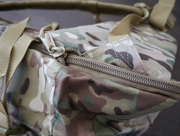 Mercury Tactical 3 Day Strech Backpack Multicam Stitch Detail