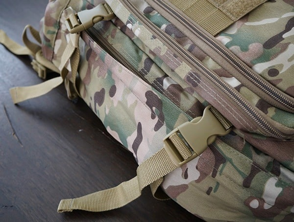 Mercury Tactical 3 Day Strech Backpack Side Compression Straps