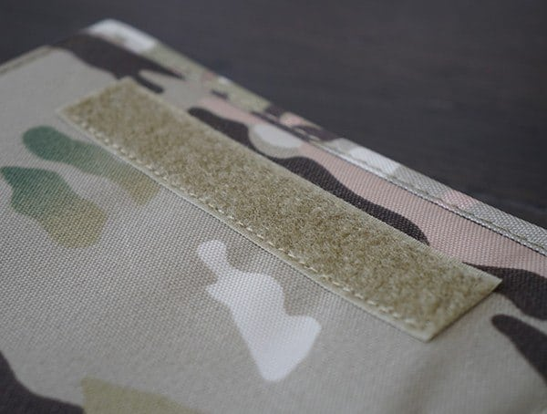 Mercury Tactical Zippered Padfolio Exterior Multicam Velcro Patch