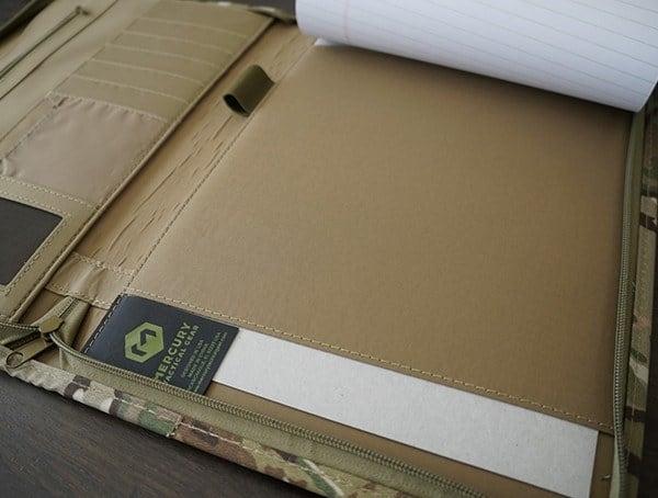 Mercury Tactical Zippered Padfolio Notepad Slot