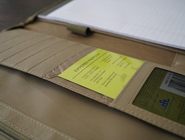 Mercury Tactical Zippered Padfolio Organization Pockets