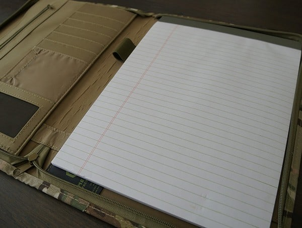 Mercury Tactical Zippered Padfolio Writing Pad