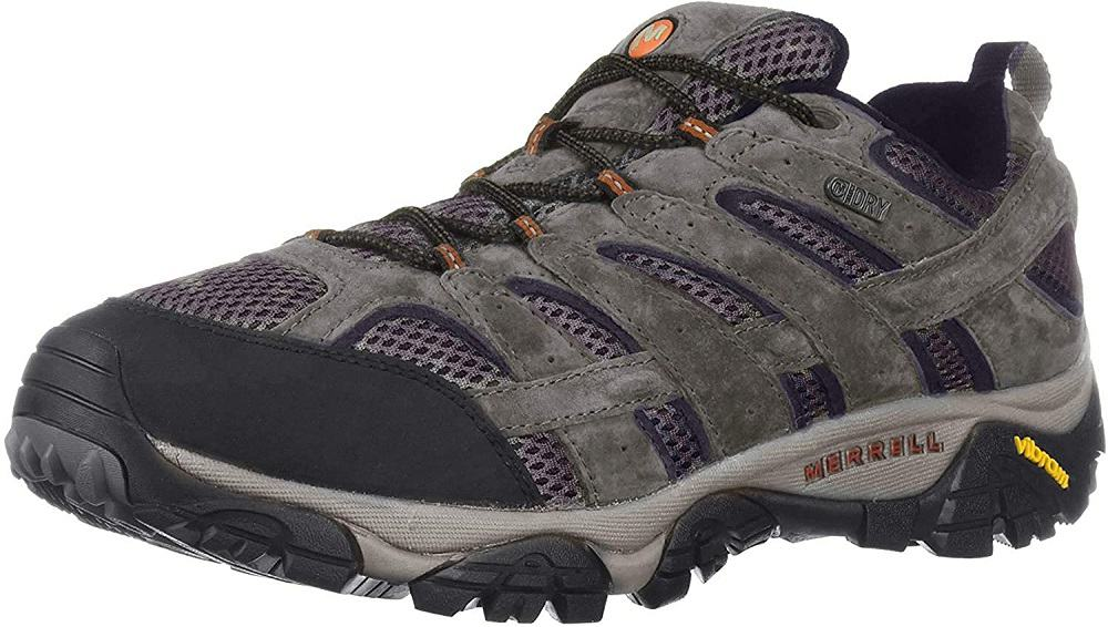 merrell mens moab 2 waterproof hiking shoe isolated on white background