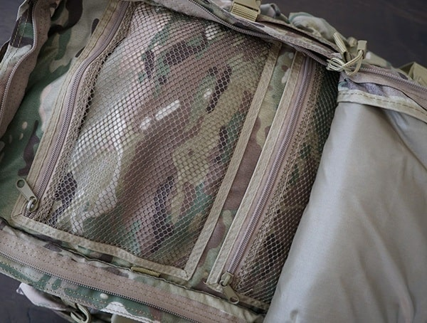 Mesh Compartment Zippere Closed Mercury Tactical Recon Backpack