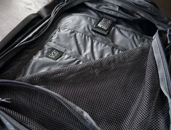 Mesh Covered Storage Compartment Chrome Industries Summoner Backpacks