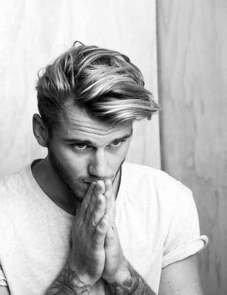 Messy Parted Mens Modern Hair Inspiration