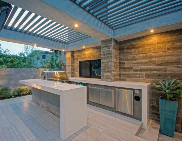 Metal And Concrete Luxury Patio Roof Ideas
