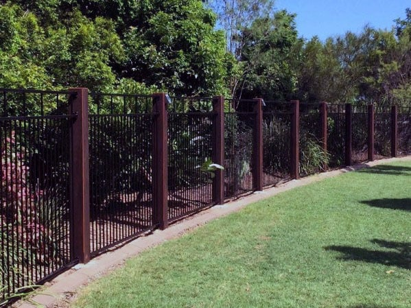 Metal And Wood Contemporary Dog Fence Design Ideas