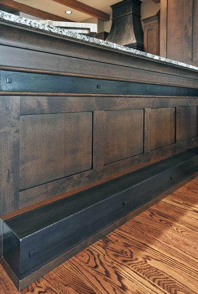 Metal And Wood Ideas For Bar Foot Rail