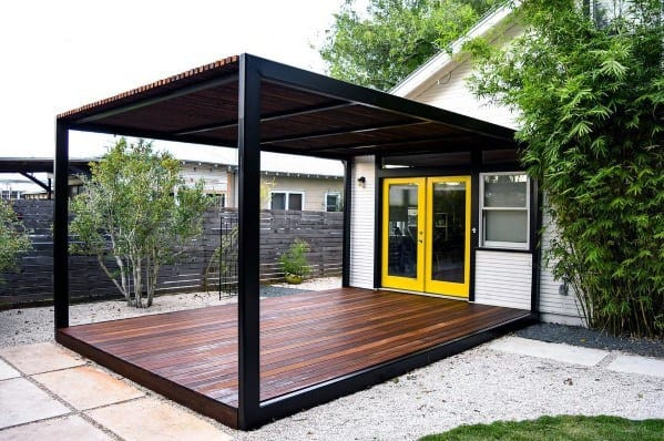 Metal And Wood Modern Cool Deck Roof