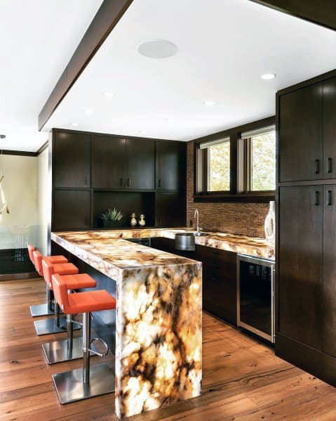 Metal Backsplash Design Idea Inspiration