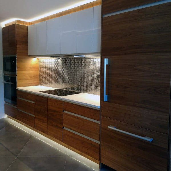 Metal Backsplash Kitchen Design
